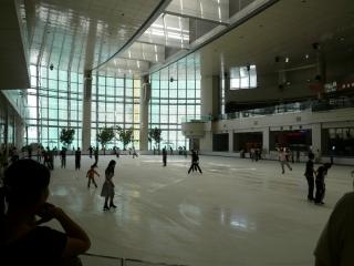 La patinoire dans le centre commercial
