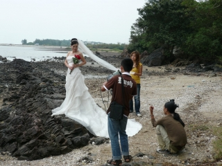 Making off photo de mariage